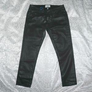 NWT PAIGE Jimmy Jimmy Crop Black Silk Jeans